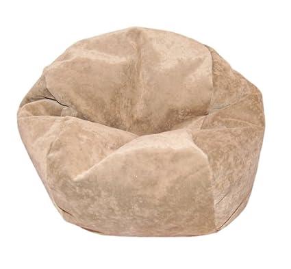 Amazon.com: Ahh. Productos microsuede Tan Puf silla para ...