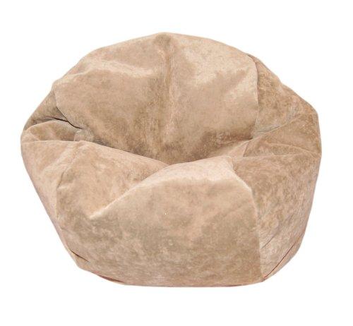 Ahh! Products Microsuede Tan Bean Bag Chair for Dolls (Bean Doll)