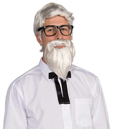 71200/270 Southern Colonel Beard & Wig (Colonel Sanders Costume Wig)