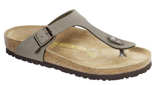 Birkenstock Gizeh Birko-Flor, Style-No. 043391, Unisex Sandals, Stone Birkibuc BirkoFlor, EU 35, Regular width