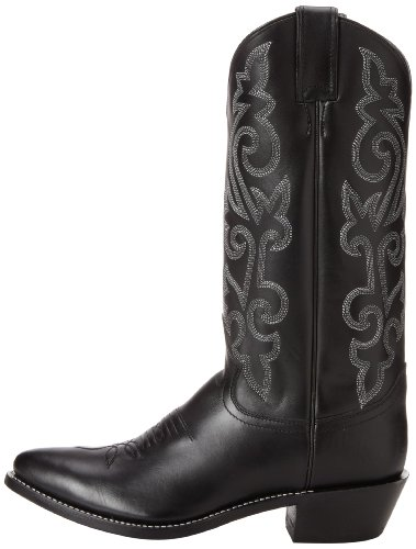 Justin Boots Men's Classic Western, Black London Calf, 6 EE US