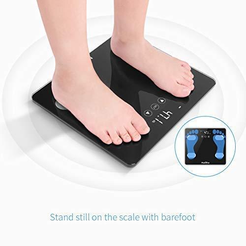 Bascula baño digital analizar 12 datos báscula grasa corporal LCD medida precisa, buen regalo de MUBYTREE: Amazon.es: Hogar