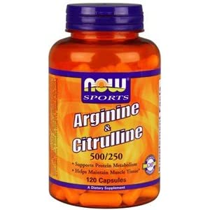 NOW Foods Arginine 500mg with Citrulline 250 mg 120 Capsules
