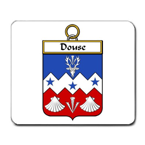 Douse or Dowse Family Crest Coat of Arms Mouse Pad
