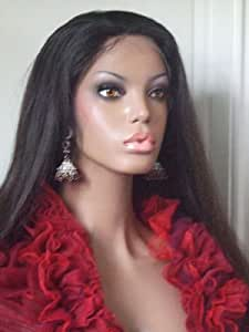 Lace Wig Human Hair Color Jet Black - Length 12 inches