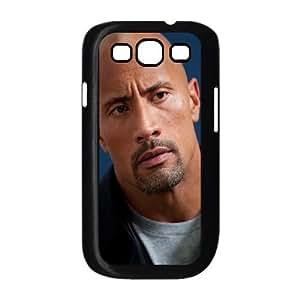 Dwayne Johnson Actor Bald Hair Celebrity 98864 funda Samsung Galaxy S3 9300 caja funda del teléfono celular del teléfono celular negro cubierta de la caja funda EEECBCAAL03040