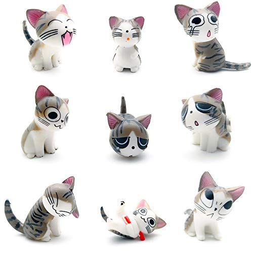 9 Pack Fridge Magnets Cat Refrigerator Office Magnets for Calendars Whiteboards Maps Resin Fun Decorative Decoration