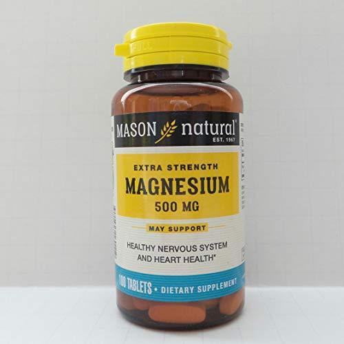 Mason Natural Magnesium - Mason Vitamins Mason Natural Magnesium 500 mg extra strength tablets - 100 ea