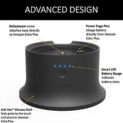 Mission Battery Base Amazon Echo Plus (2nd Generation) (Black)