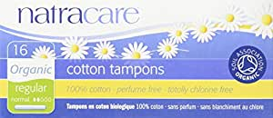 Natracare Organic Regular Tampons With Applicator 3x16ct