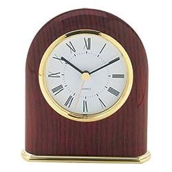 Classic Dome Desk Clock in Mahogany Finish