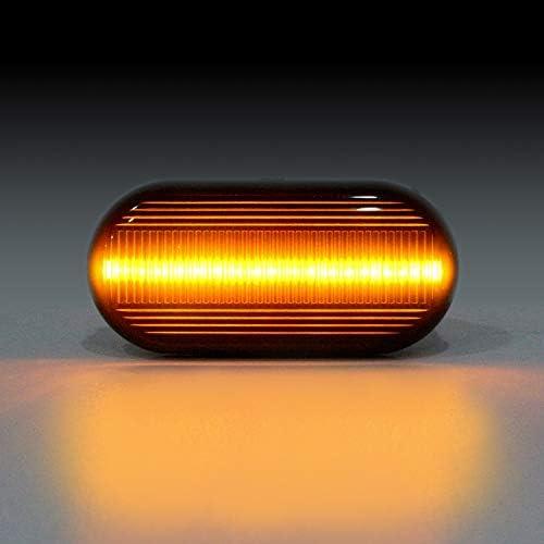 LED SEITENBLINKER Schwarz kompatibel f/ür 350 Z K12 Note E11 Pathfiner Typ R51 Navara Typ D40 Qashqai Typ J10