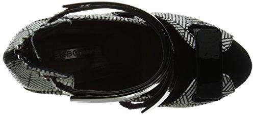 BCBGeneration Womens BG-Gala Dress Sandal Black/White mq6Coqmxvy