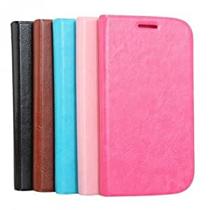 Flip-Open PU Leather Protective Case For Samsung Galaxy Note II N7100 --- Color:Black