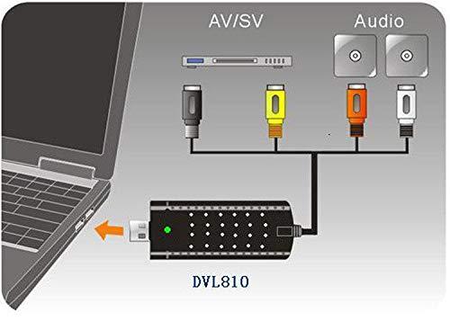 FidgetFidget USB 2.0 TV Video Audio VHS to DVD HDD Converter