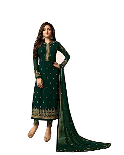 Delisa Indian/Pakistani Fashion Salwar Kameez for Women 01 (Green, SMALL-38) - Green Salwar Kameez