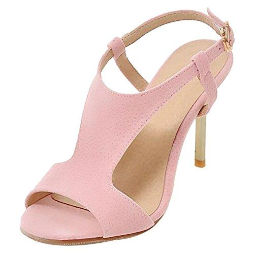 JOJONUNU Pink Peep Aiguille Femmes Toe Sandales BXBqvrw
