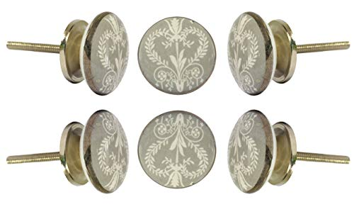 Set of 6 Ceramic Wamer Knob Kitchen Cabinet Cupboard Door Knobs Dressser Wardrobe and Drawer Pull By ()
