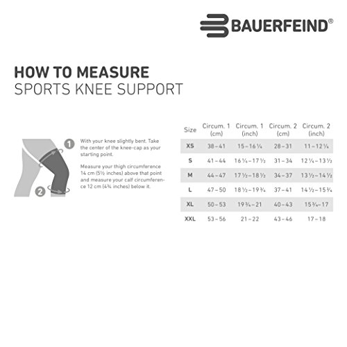 Bauerfeind Sports Knee Support - Breathable Compression (Rivera, X-Small) by Bauerfeind (Image #4)