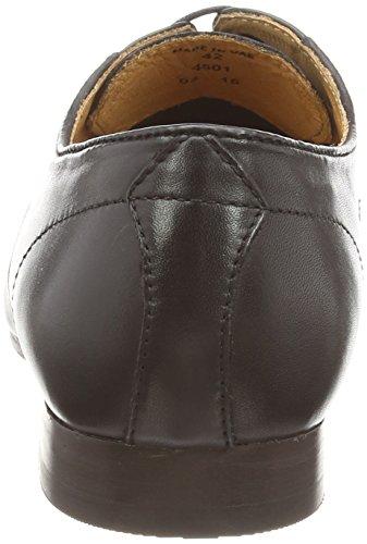 Hudson Sergio - derby cordones de cuero hombre negro - negro