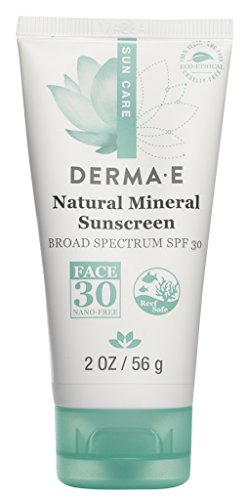 DERMA E Natural Mineral Sunscreen Broad Spectrum SPF 30 Oil-Free Face, 2oz (Packaging may vary) by DERMA-E