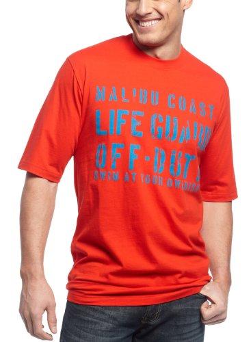 Izod malibu coast mens graphic tee shirt x large xlt big for Mens xlt t shirts