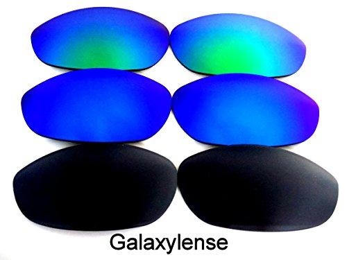 Ou De Galaxylense Hommes Bleu Monstre Dog Remplacement Femmes Vert Oakley Lentilles Pour Noir amp; C1x5Fq8w