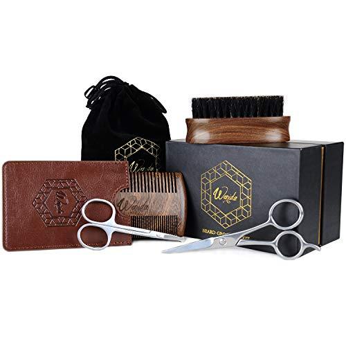 Beard Grooming & Trimming Kit Wenida Professional Facial Hair Mustache Care Gift Set for Men