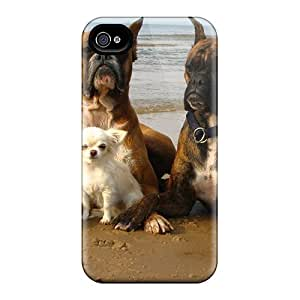 DUYcEXV1198orzso Anti-scratch Case Cover AlfredJWhite Protective Dogs Beach Case For Iphone 4/4s