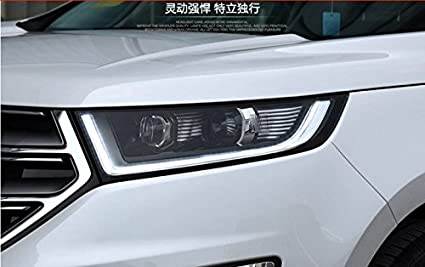 Gowe Car Styling Headlights For Ford Edge   For Edge Head Lamp Led Drl