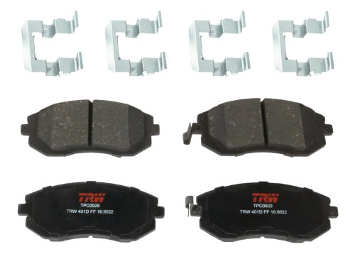 TRW Black TPC0929 Premium Ceramic Front Disc Brake Pad Set