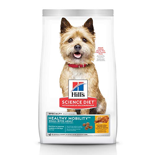- Hill's Science Diet Dry Dog Food, Adult, Healthy Mobility Small Bites, Chicken Meal, Brown Rice & Barley Recipe, 30 lb Bag