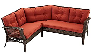 Palermo 3pc Outdoor Patio Furniture Sectional (Terracotta)