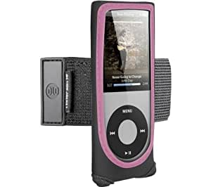 DLO - Philips Action Jacket with Adjustable Armband and Rotating Belt Clip, for iPod Nano 5G, DLA66067D (Black with Pink Trim)