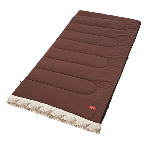 - Coleman Autumn Trails 30 Degree Sleeping Bag,Big and Tall, Brown and Deer print
