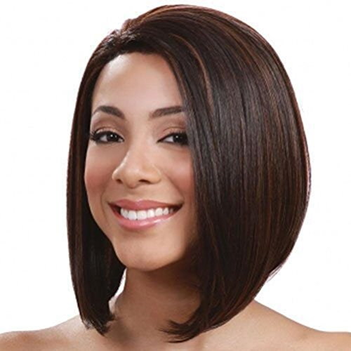 ZBB JF2063-30cm Bob Wigs Short Straight Wigs for Women Party Cosplay Wigs, Brown ()