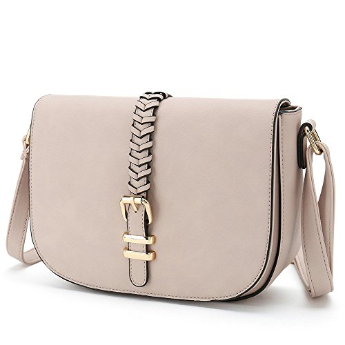 Casual Small Crossbody Saddle Bags for Women Shoulder Purse Designer Handbags (PInk) by Catmicoo