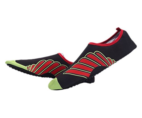 Swim Socks Wave Aqua On Yoga Mens Womens Water Santimon Shoes Beach Pool for Character Slip Black H5IUY