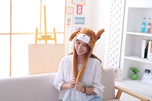 Amazon.com  HYYER Bear Hat Cap Animal with Airbag Jumping Ear Plush TIK Tok  Gift DOUYIN  Clothing a4f28f40d269