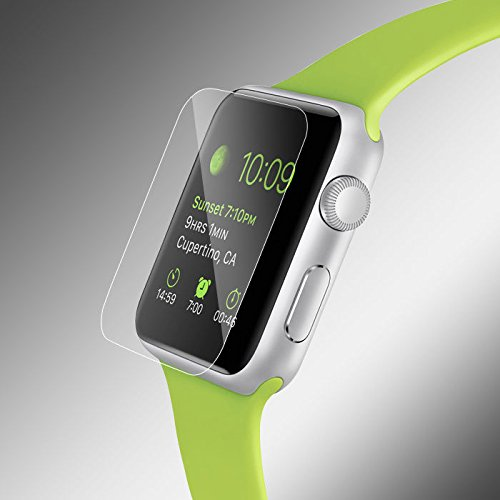 Premium Real Tempered Glass Screen Film Protector For Apple Watch 38mm 42mm iWatch (42mm)