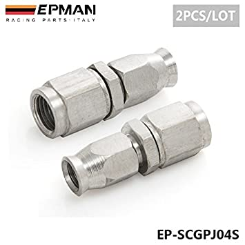 2pcs/Lot epman acero inoxidable AN3 a un -3 recto Telfon manguito extremos coche