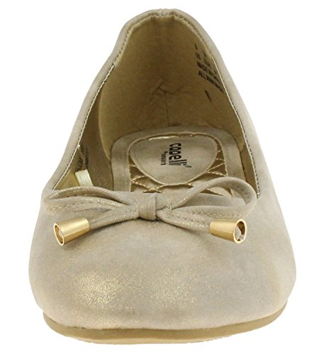 Capelli New York Distressed Metallic Met Striksluiting Dames Flats Natuurlijke Combo