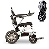 Culver Mobility Electric Power Wheelchair Scooter Fold &Travel Lightweight Folding Safe Electric Wheelchair Motorized FDA Approved Aviation Travel 17.5 INC SEAT Width-FREE WHEELCHAIR RAMP GIFT(Silver)