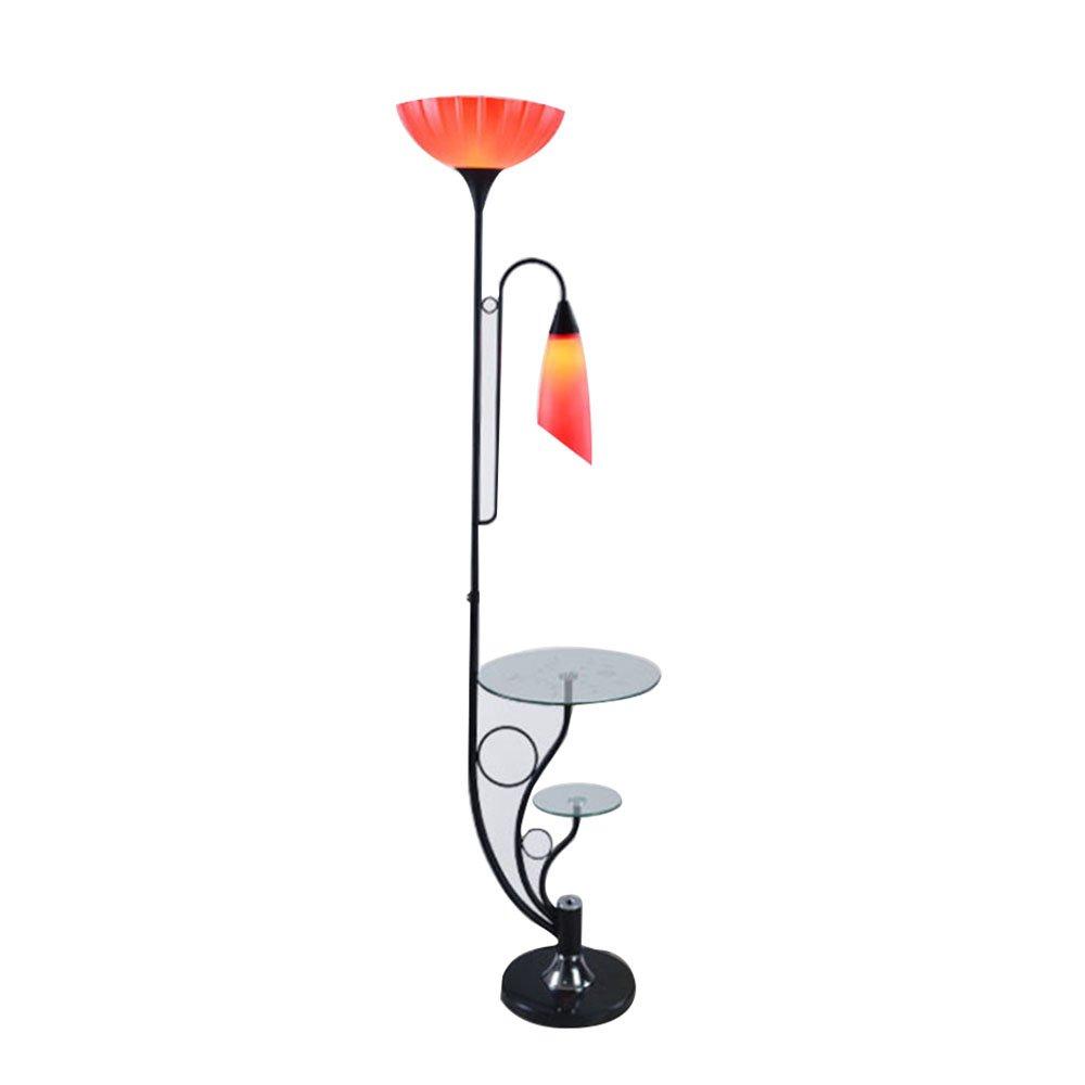 Im europäischen Stil Stehlampe Serie LED-Schmiedeeisen Stehleuchte Mode einfach und großzügig modernen kreativen vertikalen Stehleuchte Couchtischlampe Wohnzimmer Schlafzimmer Studie Stehleuchte (Farbe, Form wahlweise freigestellt) - Retro-Stehlampe ( farbe : A )