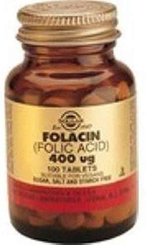 Folacin 100 comprimidos de 400 mcg de Solgar