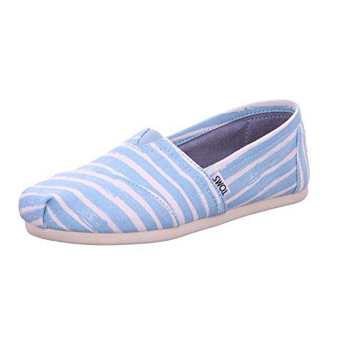 Stripe Toms 1001A07 Blue Painted Hombre Classics Pale Alpargatas Azul SB8gqS