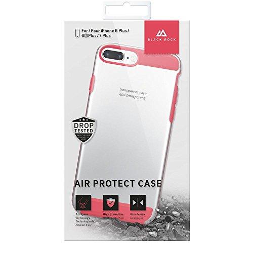 Rock Air Coque Étui Noir pour Apple iPhone 7Plus–Rouge