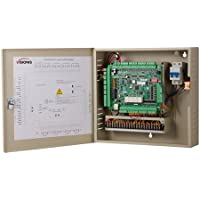 Visionis VS-AXESS-4DLX Four Door Access Control Panel Controller Board with Cabinet TCP/IP Wiegand with Software and Power Supply Included 100,000 Users