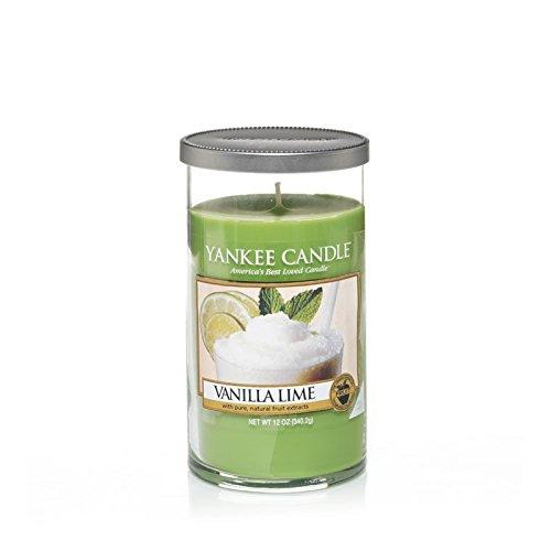 Yankee Candles Medium Pillar Candle - Vanilla Lime (Pack of 2) - ヤンキーキャンドルメディアピラーキャンドル - バニラライム (x2) [並行輸入品] B01MXO2XVO