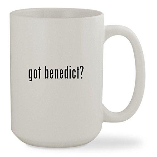 got benedict? - 15oz White Sturdy Ceramic Coffee Cup Mug - Eggs Benedict Cumberbatch Costume
